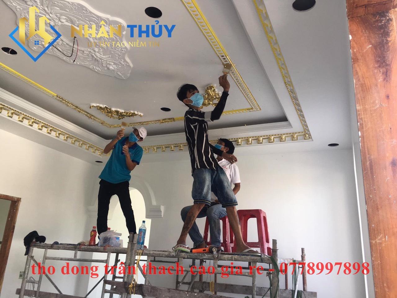 thợ đóng trần thạch cao giá rẻ tại TPHCM
