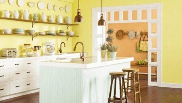 sơn nhà bếp màu vàng