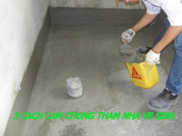 cách làm chống thấm nhà vệ sinh