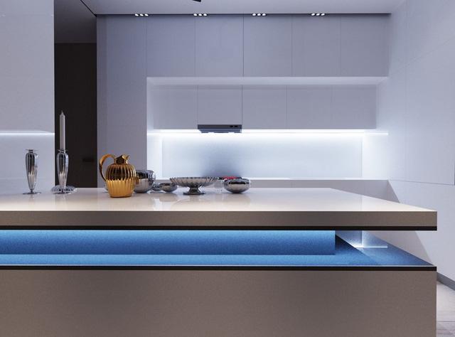 mẫu phòng bếp đơn giản ấm cúng