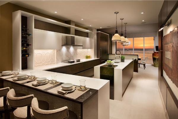 Sự kết hợp tinh tế mang lại không gian phòng bếp quá đỗi ngọt ngào