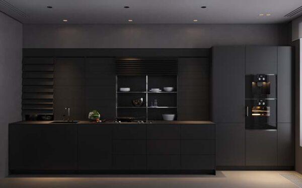 sơn nhà bếp màu đen