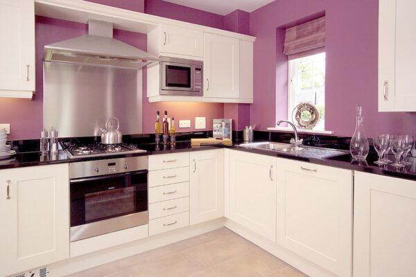 sơn nhà bếp màu tím