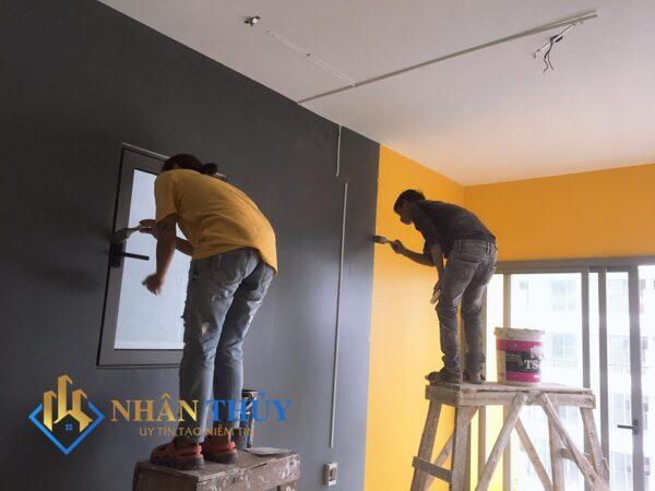 dịch vụ sơn nhà gồ vấp