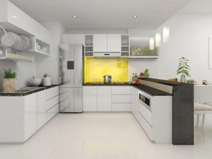 sơn nhà bếp xám bạc