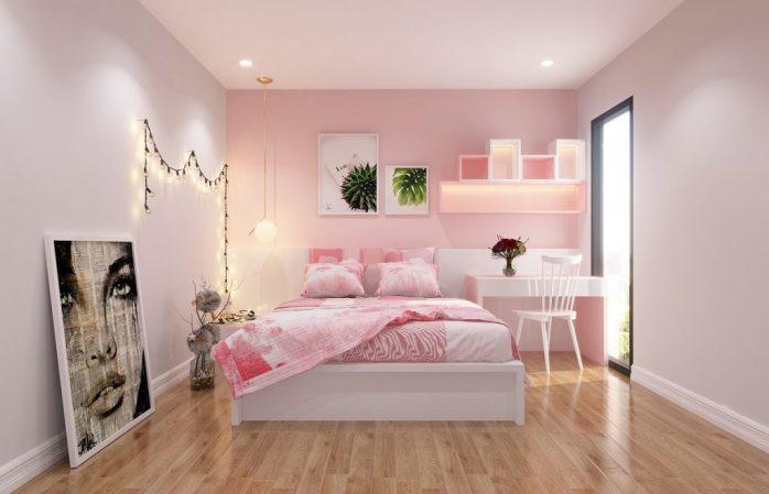 màu trắng ánh hồng