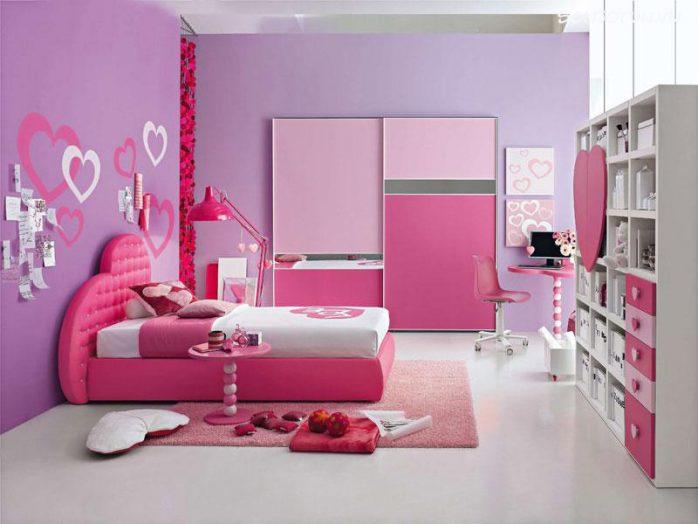 màu sơn nhà hồng cánh sen