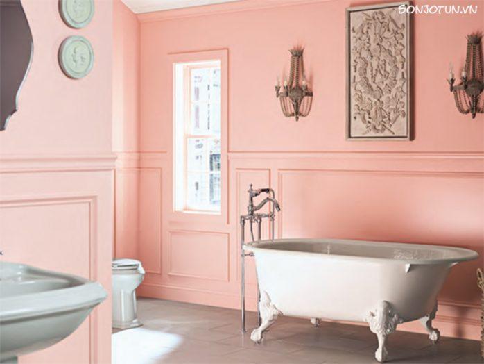 sơn nhà màu hồng cam