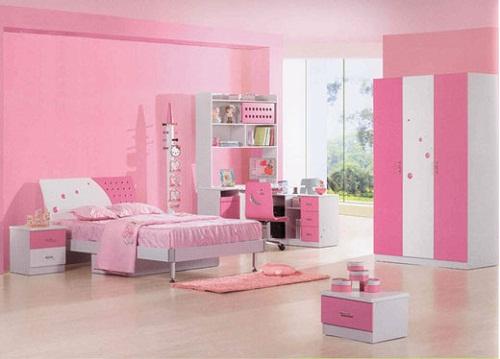 sơn nhà màu hồng phấn