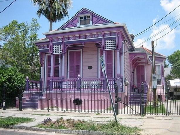sơn nhà cấp 4 màu tím khoai môn