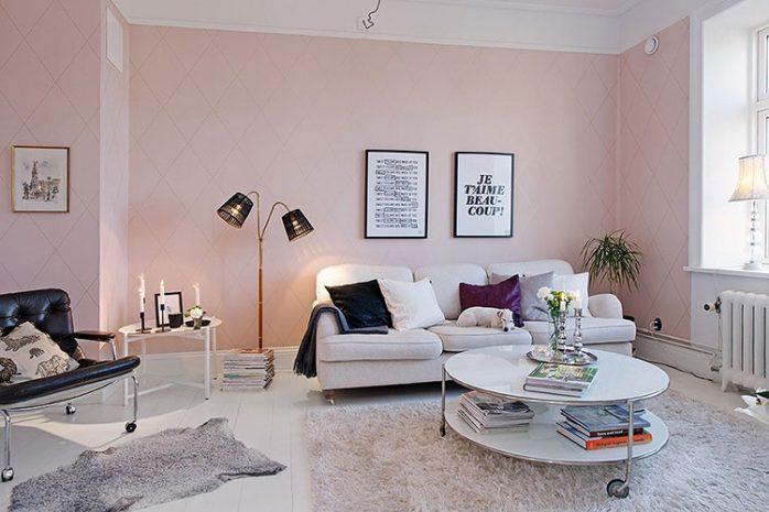 sơn nhà màu ánh hồng