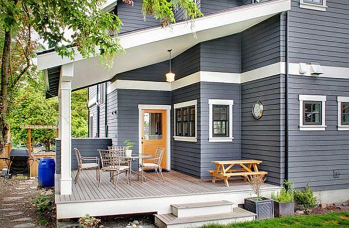sơn nhà màu ghi đậm