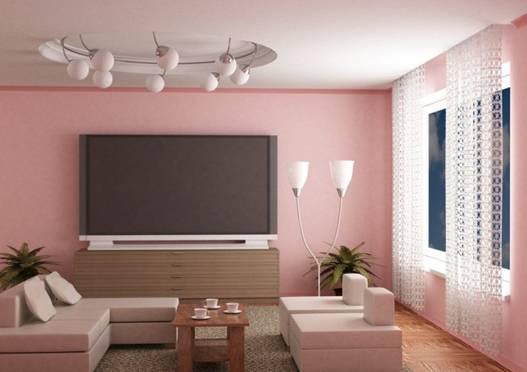 sơn nhà màu hồng đất