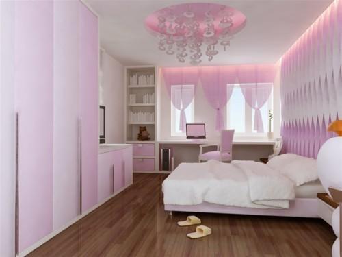 sơn nhà màu hồng nhạt