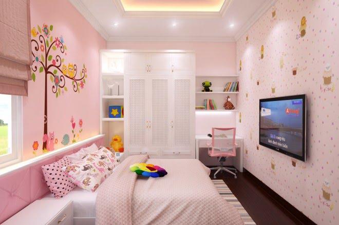 sơn nhà màu kem hồng