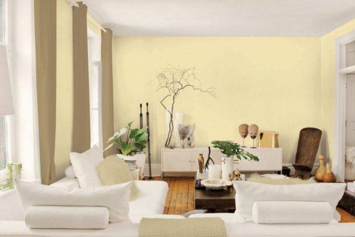 sơn nhà màu kem vàng