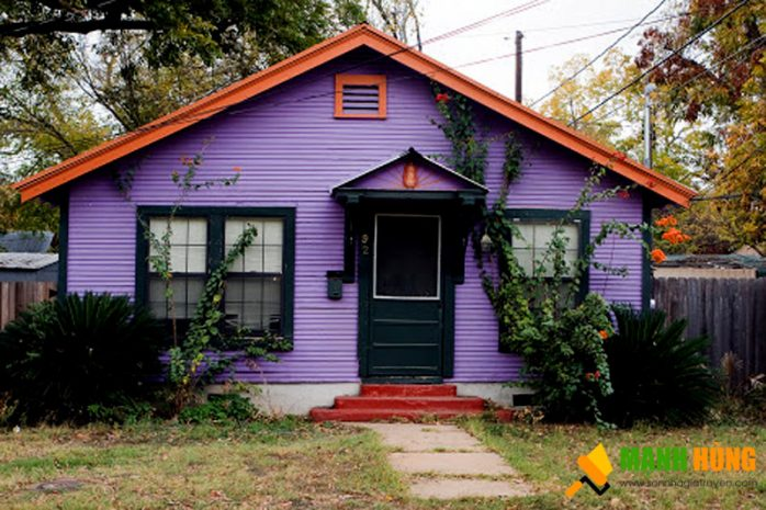 sơn nhà bên ngoài màu khoai môn