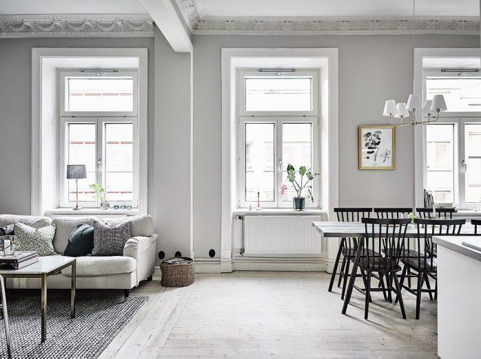 sơn nhà màu trắng xám