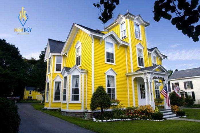 sơn nhà màu vàng be