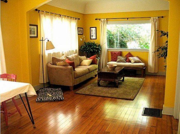 sơn nhà màu vàng đậm