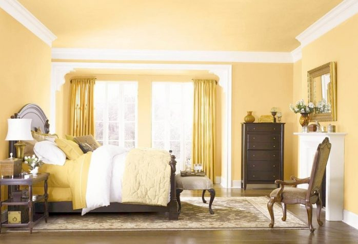 sơn nhà màu vàng kim