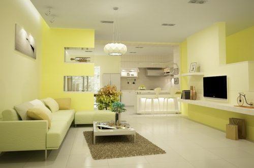 sơn nhà màu vàng nhạt