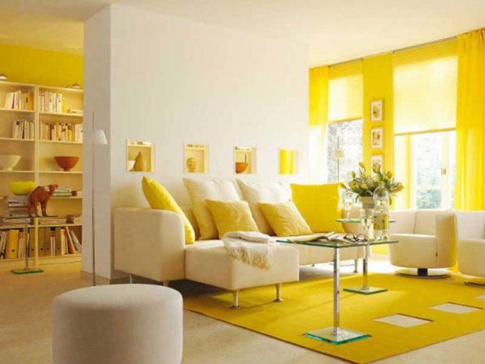 sơn nhà màu vàng trắng