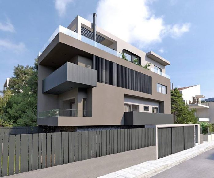 sơn nhà màu xám ghi