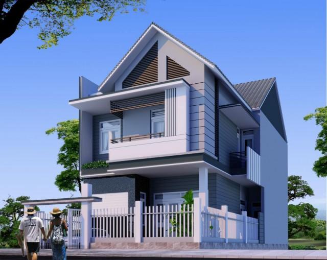 sơn nhà màu trắng da trời