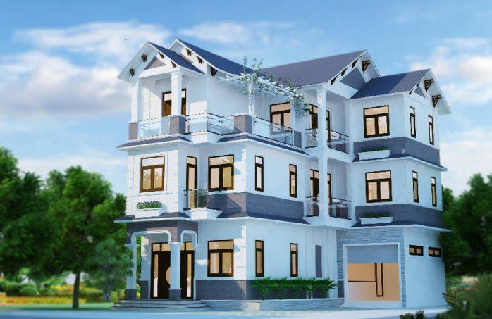 sơn nhà màu xanh dương