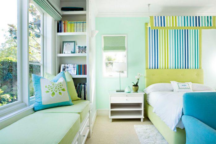 sơn nhà màu xanh lam