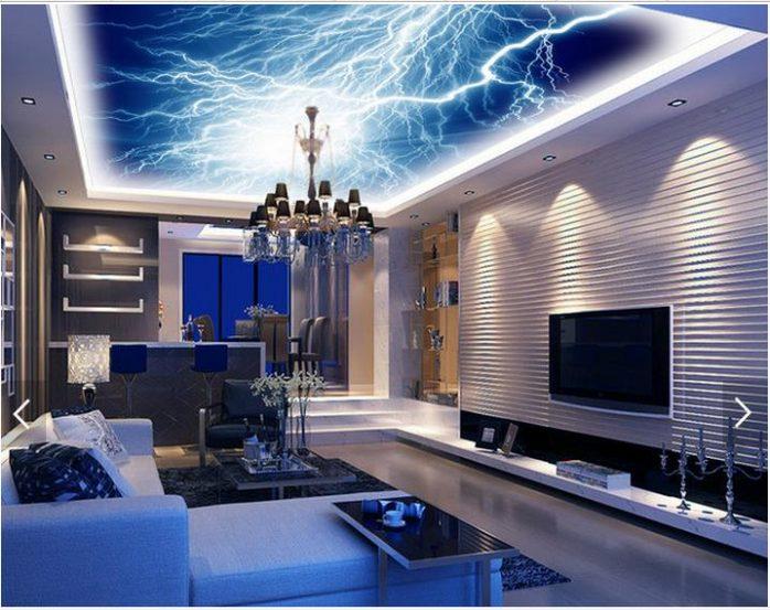 sơn trần nhà 3d màu tím