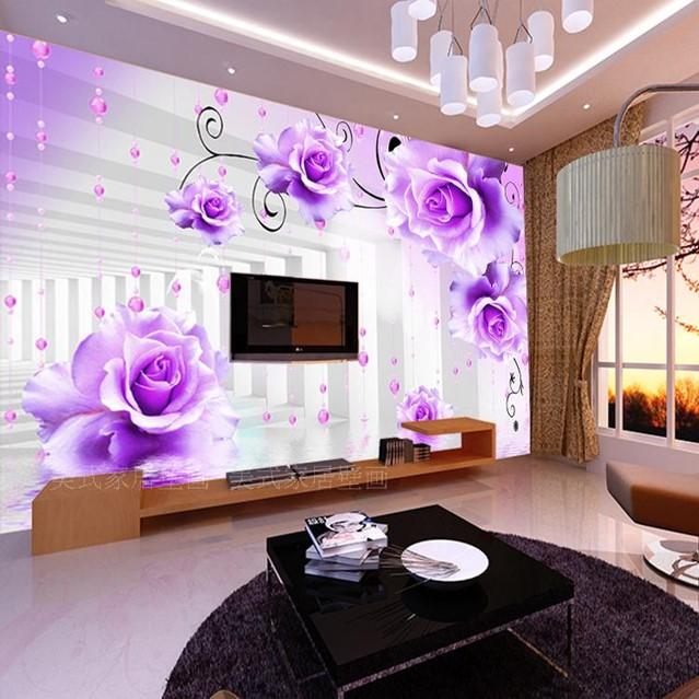 sơn tường nhà 3d màu tím