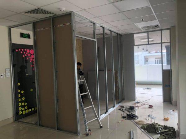 thi công vách ngăn thạch cao tại tphcm
