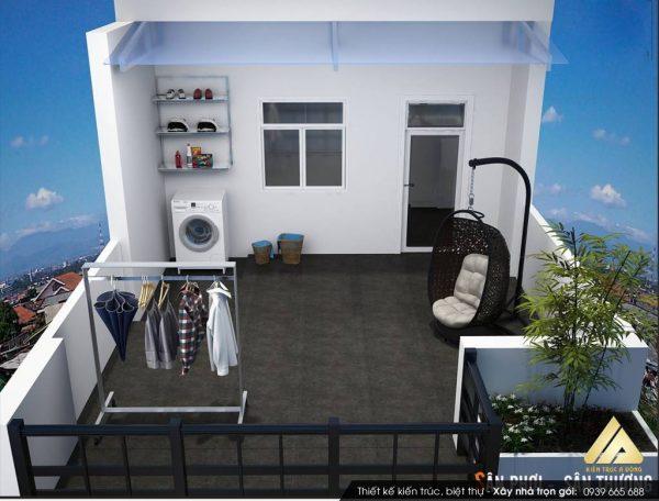 xây phòng trên sân thượng