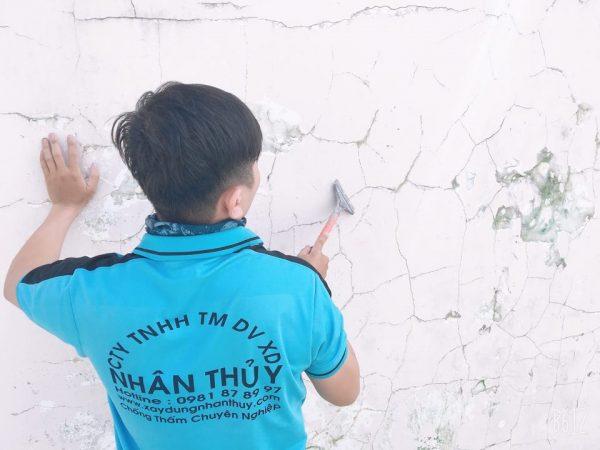 xử lý tường bị nứt