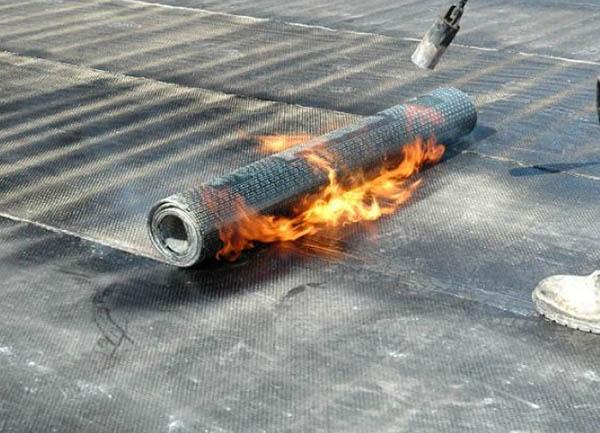 chống thấm bằng màng khò nóng