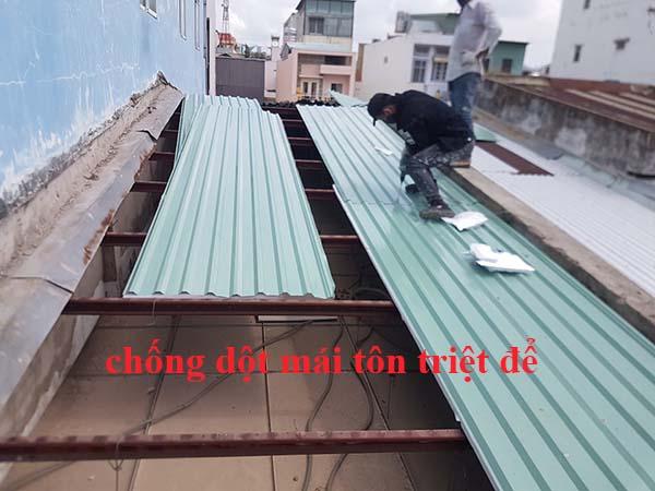 dịch vụ chống dột mái tôn tại quận 3