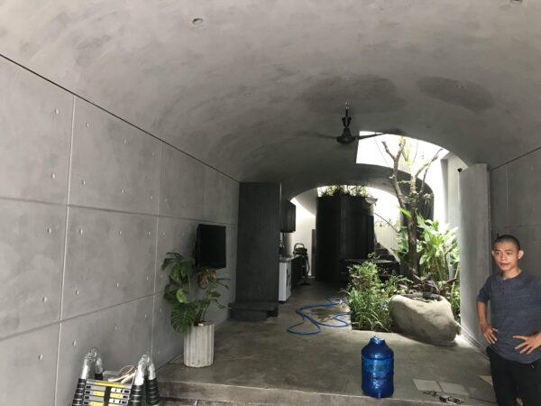 sơn trần nhà bê tông đẹp