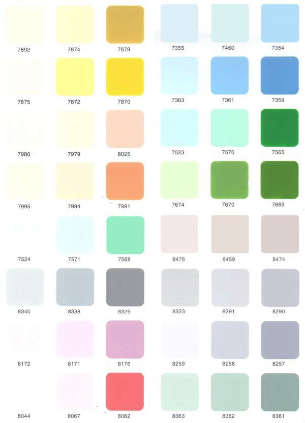 bảng màu sơn ngoại thất toa