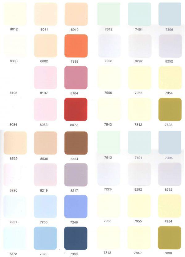 bảng màu sơn toa ngoại thất