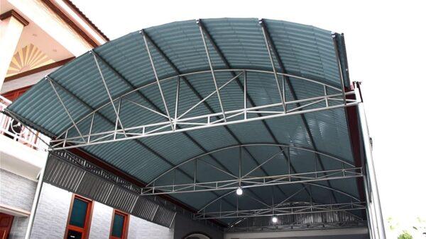mái tôn vòm sân thượng tại tphcm