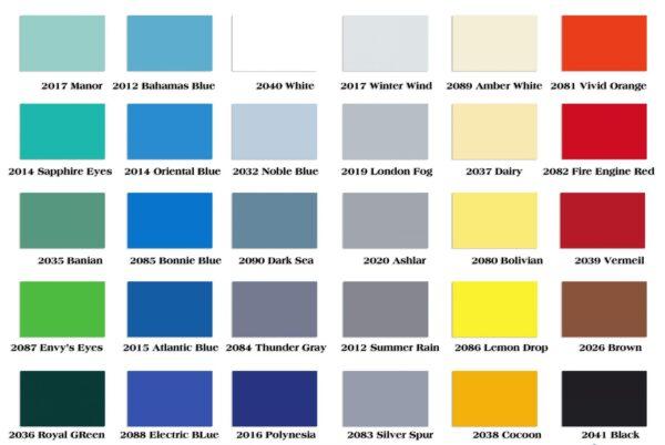 bảng màu sơn kova nội thất