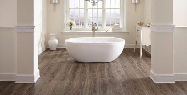 sàn nhựa giả gỗ phòng tắm