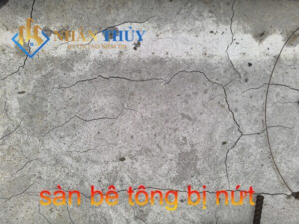 chống thấm sàn mái bê tông bị nứt