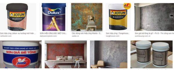 sơn giả bê tông giá rẻ