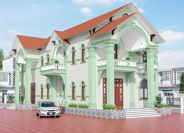 màu sơn cột nhà