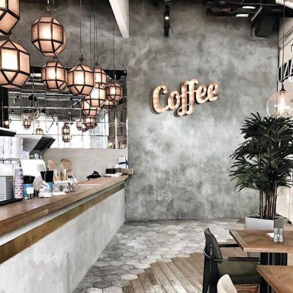 sơn giả xi măng quán cafe