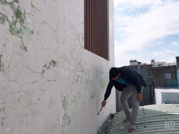 chống nứt tường ngoài trời