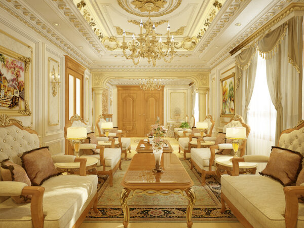 trần phòng khách thạch cao